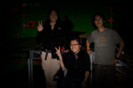 The Visual Effects Supervisor Sarah Char with Post visual effects artists Thomas Huang and Kaitlyn Yang
